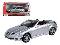 2005 Mercedes SLK55 SLK 55 AMG Silver 1/24 Diecast Car Model by Motormax