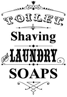 STENCIL - Toilet, Shaving and Laundry Soaps - stencil - reusable mylar stencil 12x17.5