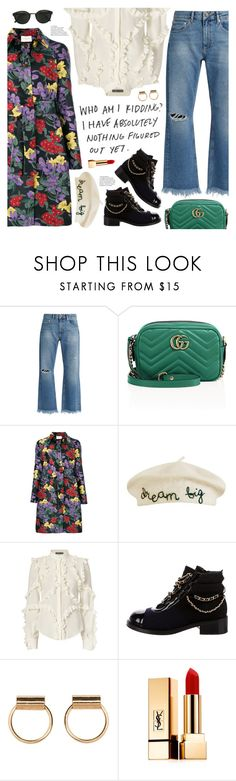 """nothing figured out yet"" by valentino-lover ❤ liked on Polyvore featuring Raey, Gucci, Giuseppe di Morabito, Cynthia Rowley, Alexander McQueen, Chanel, Yves Saint Laurent and RetroSuperFuture"