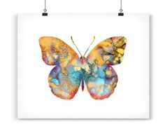Butterfly Watercolor Painting  Giclee Art print  by Zendrawing