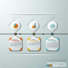 Modern Infographics Paper Timeline Template