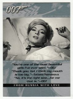 James Bond - The Quotable # 40 - From Russia With Love