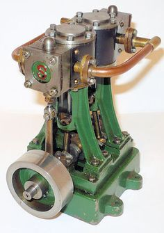 Stuart Turner D10 twin cylinder marine engine.
