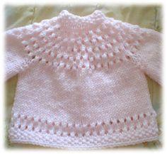 Free Knitting Pattern - Baby Sweaters: Pretty Baby Sweater