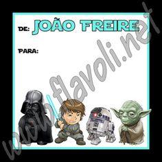 Etiqueta Star Wars 02  :: flavoli.net - Papelaria Personalizada :: Contato: (21) 98-836-0113 vendas@flavoli.net
