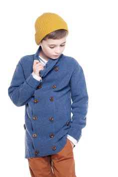 Cool handsome long jacket with double buttoned front by Mole Little Norway AW14 collections ♥ www.mole.no