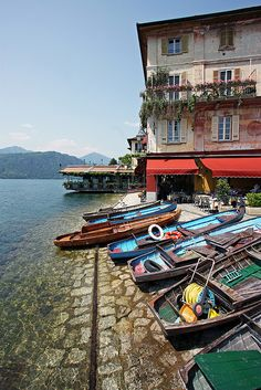 Lago d'Orta , Italy in Alto Piemonte.