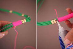Friendship Necklace Tutorials : DIY Utility Rope Necklaces