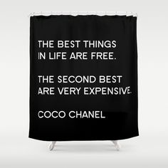 Shower Curtain - Chanel Shower Curtain - Typography Quote - Coco Chanel Quotes - Housewarming Gift - Fashion Decor - Fashion Quote by BellaBellaShoppe on Etsy https://www.etsy.com/listing/193295011/shower-curtain-chanel-shower-curtain