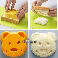 New Yellow Cute Bear Sandwich Bread Toast Cake Decorating Cutter Mold Tool DIY