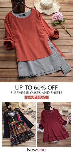 Best Screen Sewing clothes tunics Ideas Sleeve casual t-shirts and blouses for women, best for spring, summer, and fall. Diy Fashion Tops, Fashion Mode, Indie Fashion, Fashion Week, Look Fashion, Womens Fashion, Fashion Blouses, Fashion Shirts, Fashion Spring