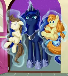 Firebrand: A thousand pardons but doth you own of these two ponies?  I don't have any idea how to speak Canterlot.
