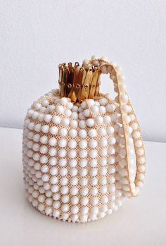 60's Beaded Plastic Purse