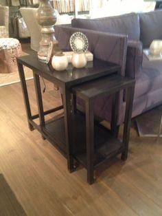 Black Nickel Nesting Tables - 17 W x 26 D x 26 H