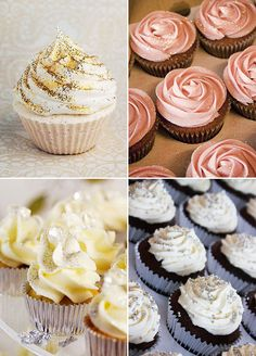 From glitzy gold to shinning silver, adding a little twinkle to your sweets is a sure way to have them standout. Glitter cupcakes