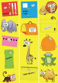Teacher's Pet Displays » Dear Zoo Border » FREE downloadable EYFS, KS1, KS2 classroom display and teaching aid resources » A Sparklebox alternative Zoo Activities Preschool, Animal Activities, Preschool Books, Dear Zoo Cake, Dear Zoo Eyfs, Dear Zoo Party, Classroom Displays, Ks2 Classroom, World Book Day Ideas