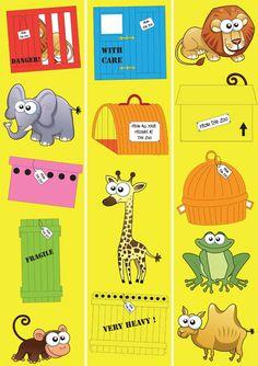Teacher's Pet Displays » Dear Zoo Border » FREE downloadable EYFS, KS1, KS2 classroom display and teaching aid resources » A Sparklebox alternative