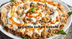 Sultan kebabı, yufka ve tavuk göğsü ile yapılan, sunumu oldukça şık bir ana yemektir.