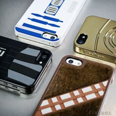 Darth Vader, C-3PO, R2-D2, and even a furry Chewie! Limited Edition iPhone 5 Star Wars Cases