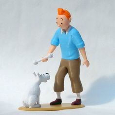 Tintin and Snowy 3D model, reddadsteve