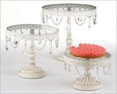 Gorgeous Three Piece Cake Stand Set