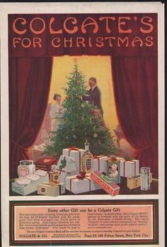 Vintage Christmas Ad ~ Colgate's For Christmas ~ Ad for various Colgate products as gifts. ©1916