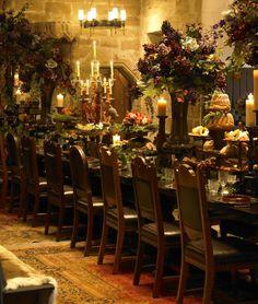 Dinner at Borthwick Castle.