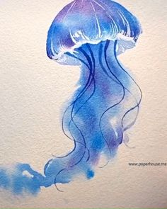 drawings for beginners pencil watercolor painting Jellyfish Watercolor Ideas Painting & Drawing, Watercolor Paintings, Watercolor Ideas, Watercolour Illustration, Drawing Drawing, Drawing Ideas, Deep Drawing, Watercolor Tutorials, Nature Drawing