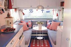 We just bought a new/old Airstream. What are the chances my husband will let me get my hands on it so it can look like this?