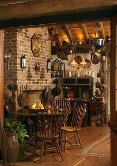 Old fashioned kitchen, very homey