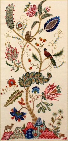 wasbella102:  Tree of Life (crewel embroidery) by Margaret Light