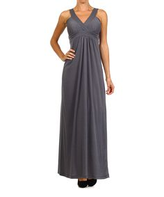 Pretty Young Thing Charcoal Surplice Maxi Dress | zulily