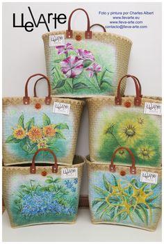 Bolsos pintados a mano www.llevarte.eu www.lleva-arte.com