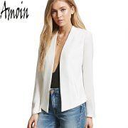 Amoin 2017 Women White Jacket Long Sleeve Feminina Suit Blazer Women's Casual Blazer Mujer Plus Size Blazer Feminino Jackets – GirliHood