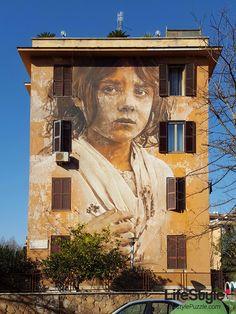 Tor Marancia Street Art Project in Rome, Italy  #streetart #rome #italy #art