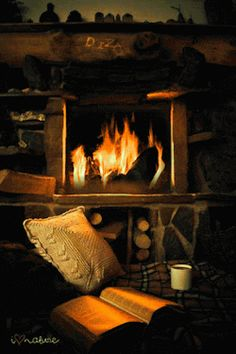 Wouldn't it be lovely to just sit relaxed in front of this hearth after a hard days work