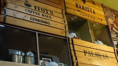 Itoy's Coffee Shop in Palawan – Design Reference for Woodsy and Crate Theme 2 Palawan, Wooden Crates, Design Reference, Coffee Shop, Design Inspiration, Shop Ideas, Shopping, Wordpress, Decorations