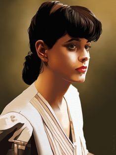 Sean Young as Rachael from Bladerunner painted in Artrage studio pro. Blade Runner Poster, Blade Runner Art, Blade Runner 2049, Sean Young Blade Runner, Rachel Blade Runner, Horror Movie Posters, Movie Poster Art, Caricatures, Cyberpunk