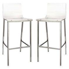 we love these acrylic bar stools