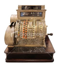 Cool old cash register and in sterling ie pounds shillings and pence