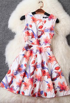 Contracted Temperament Cultivate One's Morality Print Dress on Luulla Prom Dresses With Sleeves, Grad Dresses, Homecoming Dresses, Cute Dresses, Casual Dresses, Fashion Dresses, Cute Outfits, Beautiful Summer Dresses, Stunning Dresses