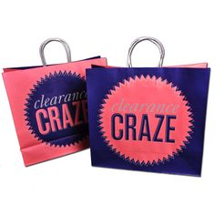 Custom Paper Shopping Bags with Paper Twist Handles