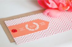 Pink/Peach wedding stationary
