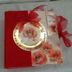 Poppy album/journal by Paintspotsandpaper on Etsy Poppy Photo, Felt Cover, Valentine Heart, Scrapbook Paper Crafts, Christmas Time, Poppies, Handmade Items, Delicate, Journal