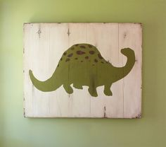 When my son's room gets redone I was thinking dinosaurs. This is so simple and cute. It's so easy I'm tempted to see if I could paint it myself and save a few bucks.