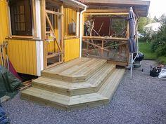 Patio Deck Designs, Outdoor Fun, Outdoor Decor, Deck Stairs, Front Steps, Outdoor Gardens, Porch Ideas, Patio Ideas, Landscape