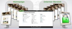 Der TeamWebber Homepage-Baukasten hat automatisch einen öffentlichen Bereich und einen internen Bereich für den Austausch im Team.