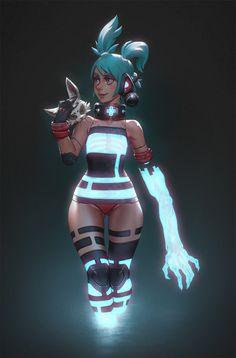 3SD chan - animated by MoonlightOrange