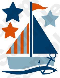 Nautical Children's Nursery Wall Stickers.