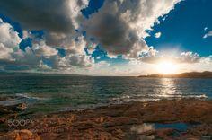 Isola Rossa by memba  Sonnenuntergang Italien Meer Sonne Wolken Sardinien Isola Rossa memba